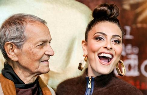 Nelson Xavier e Juliana Paes são os protagonistas de A Despedida, desde já o filme a ser batido no 42º Festival de Cinema de Gramado. Foto: Edison Vara/Pressphoto
