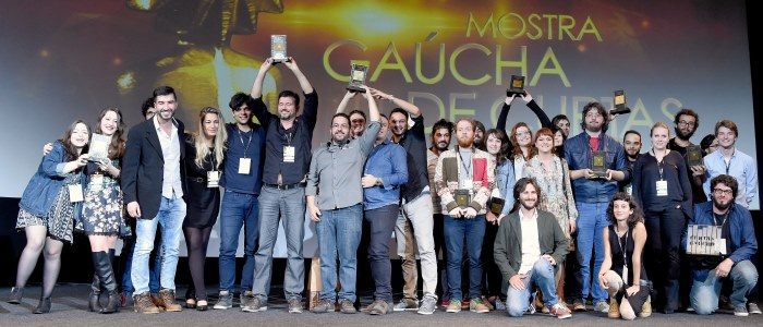 43º Festival de Cinema de Gramado – Cerimônia de Entrega do Prêmio Assembleia Legislativa de Cinema - Mostra de Curtas Gaúchos – Os premiados da noite. Foto: Igor Pires/Agência Pressphoto – www.edisonvara.com.br