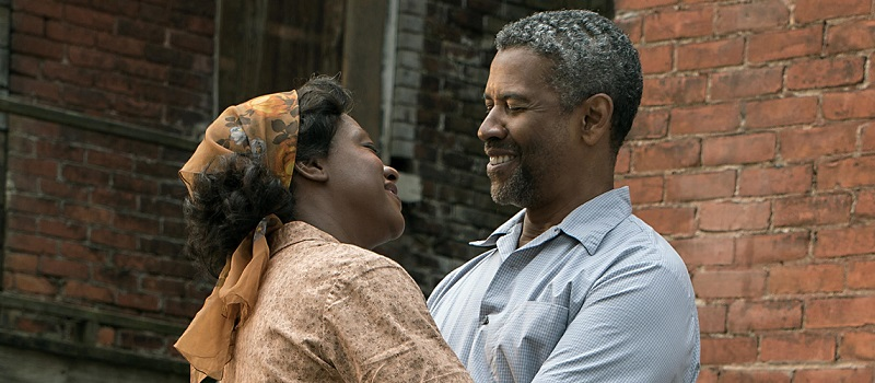 "Denzel Washington says his character, Troy, ""thinks he can control death and the devil, and he finds out in the worst way that he can't."" Washington stars alongside Viola Davis in Fences</em"
